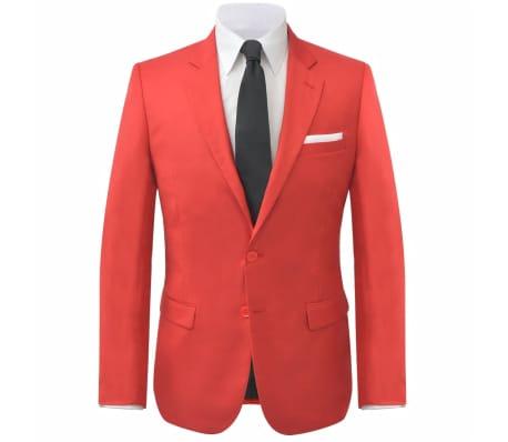 vidaXL Costume à 2 pièces pour hommes Rouge Taille 52[2/9]