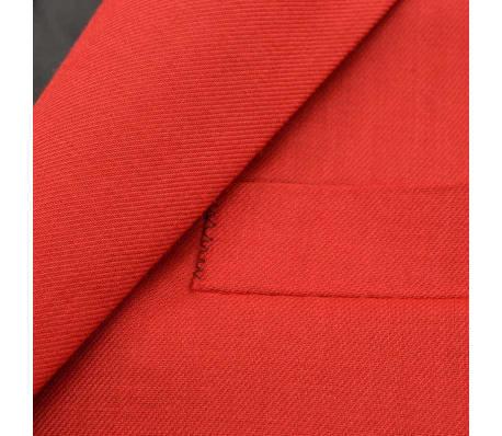 vidaXL Costume à 2 pièces pour hommes Rouge Taille 52[3/9]