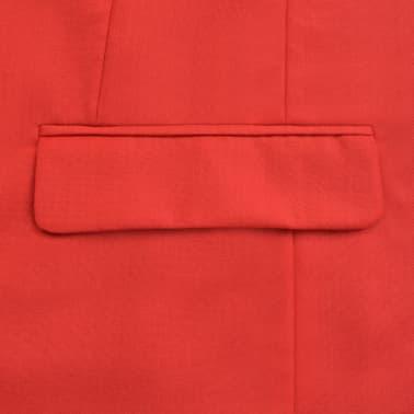 vidaXL Costume à 2 pièces pour hommes Rouge Taille 52[4/9]
