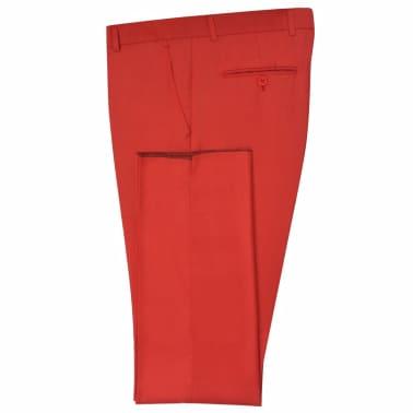 vidaXL Costume à 2 pièces pour hommes Rouge Taille 52[6/9]