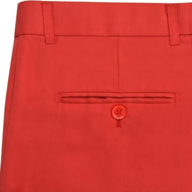vidaXL Costume à 2 pièces pour hommes Rouge Taille 52[8/9]