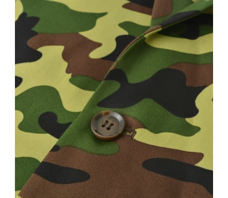 vidaXL 2-tlg. Herren-Anzug mit Krawatte Camouflage-Muster Größe 50[4/9]
