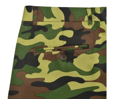 vidaXL 2-tlg. Herren-Anzug mit Krawatte Camouflage-Muster Größe 50[7/9]