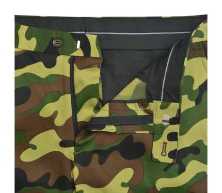 vidaXL 2-tlg. Herren-Anzug mit Krawatte Camouflage-Muster Größe 50[8/9]