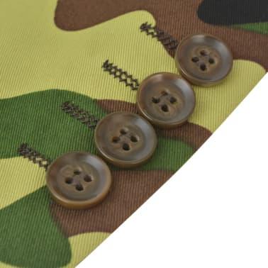 vidaXL 2-tlg. Herren-Anzug mit Krawatte Camouflage-Muster Größe 50[5/9]
