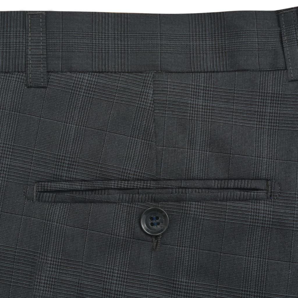 f1f2c4cfaa6 vidaXL vidaXLi kaheosaline meeste ruuduline ülikond, antratsiithall, suurus  50