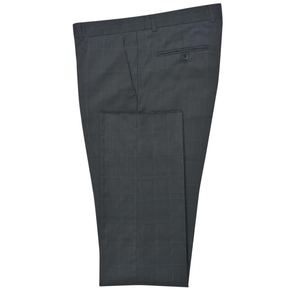 75336675ee5 vidaXL vidaXLi kaheosaline meeste ruuduline ülikond, antratsiithall, suurus  54