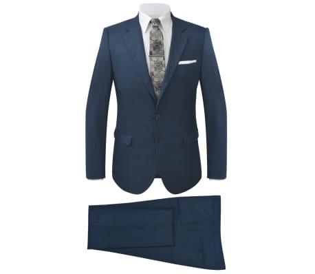 vidaXL ternet jakkesæt til mænd blå str. 46