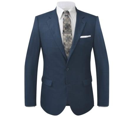 8bfb6d43f vidaXL ternet jakkesæt til mænd blå str. 46