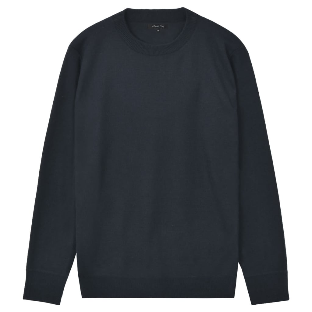 vidaXL Pánský svetr s kulatým výstřihem námořnická modrá vel. M