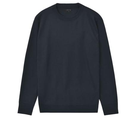 vidaXL Men's Pullover Sweater Round Neck Navy M