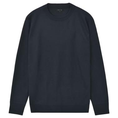 vidaXL Herren Pullover Sweater Rundhals Marineblau M[1/5]