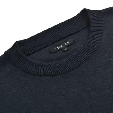 vidaXL Herren Pullover Sweater Rundhals Marineblau M[2/5]