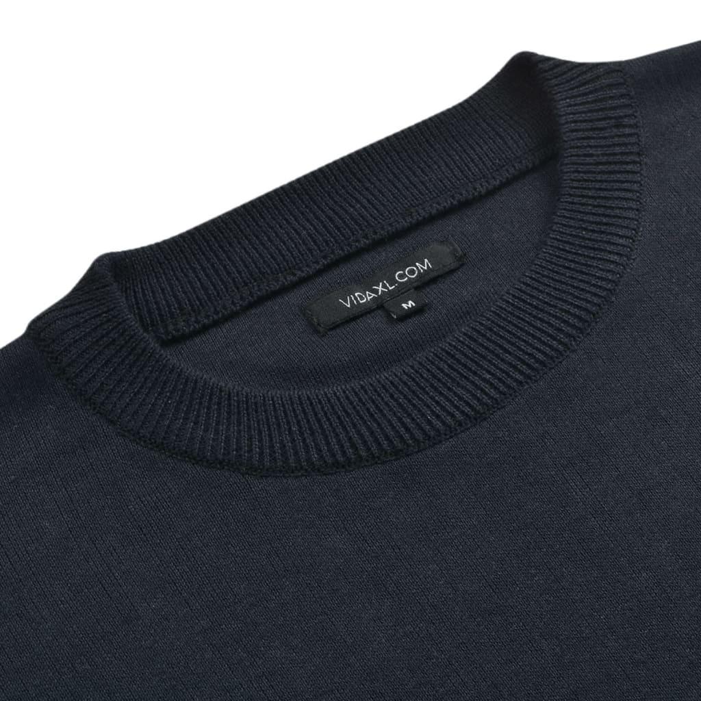 vidaXL Pánský svetr s kulatým výstřihem námořnická modrá vel. XL
