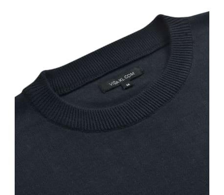 vidaXL Herregenser rund hals marineblå XL[2/5]
