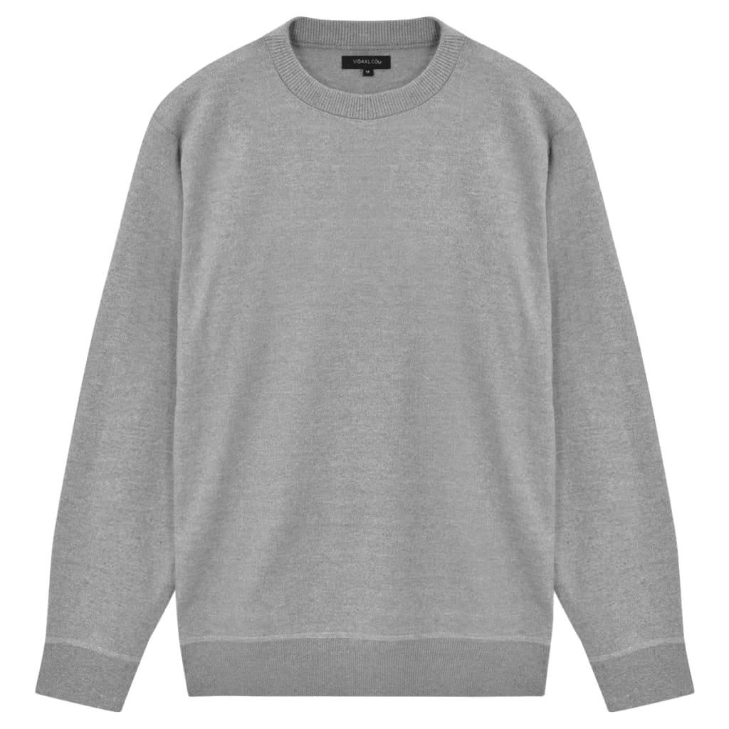 999131655 Herren Pullover Sweater Rundhals Grau L