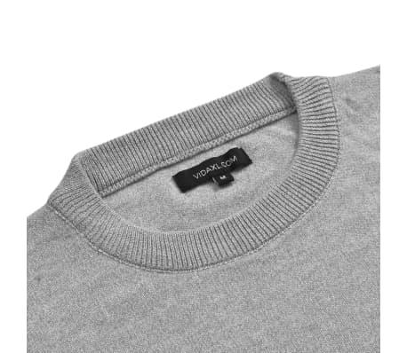 vidaXL Men's Pullover Sweater Round Neck Grey L[2/5]