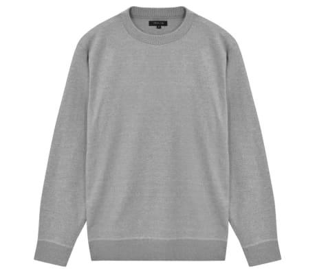 vidaXL Men's Pullover Sweater Round Neck Grey XL