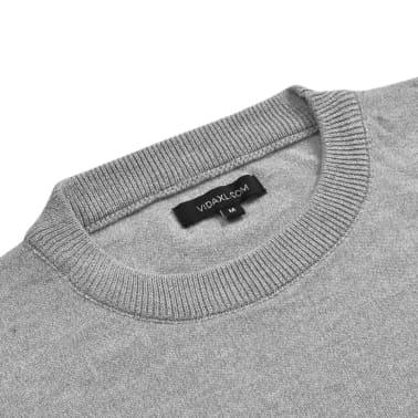vidaXL Herregenser rund hals grå XL[2/5]