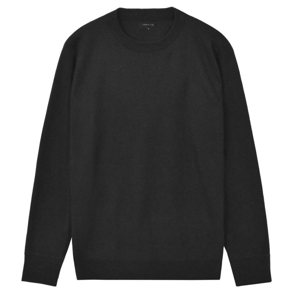 999131659 Herren Pullover Sweater Rundhals Schwarz L