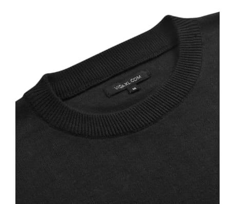 vidaXL Men's Pullover Sweater Round Neck Black L[2/4]