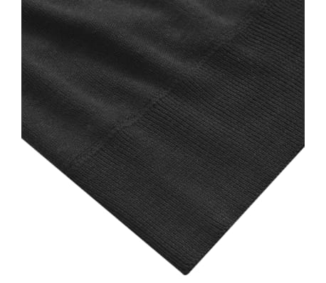 vidaXL Men's Pullover Sweater Round Neck Black L[3/4]