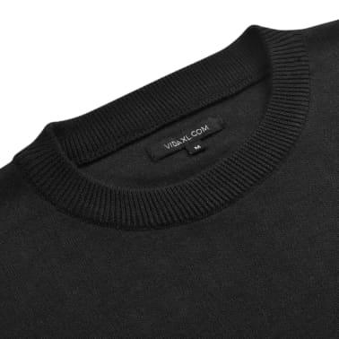 vidaXL Jersey de hombre cuello redondo negro XL[3/4]
