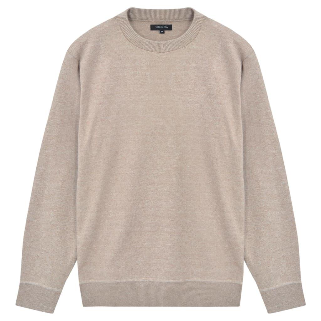 999131662 Herren Pullover Sweater Rundhals Beige M