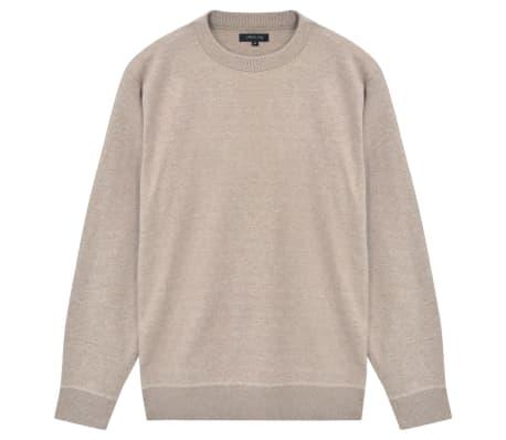 vidaXL Men's Pullover Sweater Round Neck Beige M[1/5]