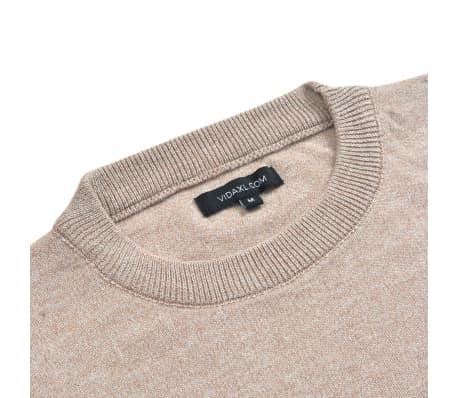 vidaXL Men's Pullover Sweater Round Neck Beige M[2/5]