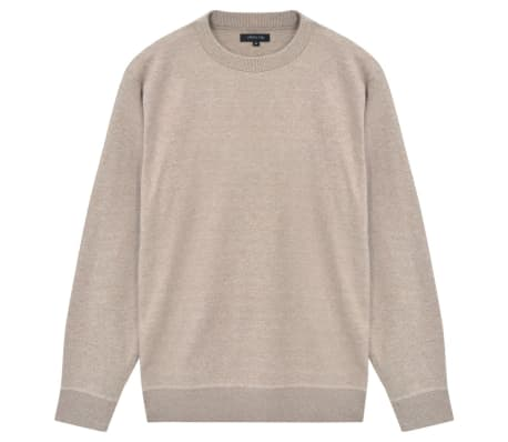vidaXL Men's Pullover Sweater Round Neck Beige XXL[1/5]