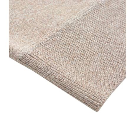 vidaXL Men's Pullover Sweater Round Neck Beige XXL[3/5]