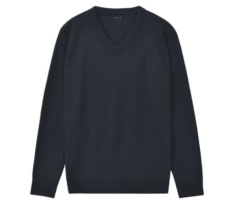 vidaXL Men's Pullover Sweater V-Neck Navy XL[1/5]