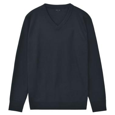 vidaXL Tröja herr v-ringad marinblå XL[1/5]