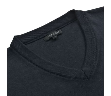 vidaXL Herentrui met V-hals marineblauw XL[2/5]