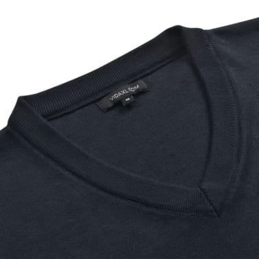 vidaXL Tröja herr v-ringad marinblå XL[2/5]