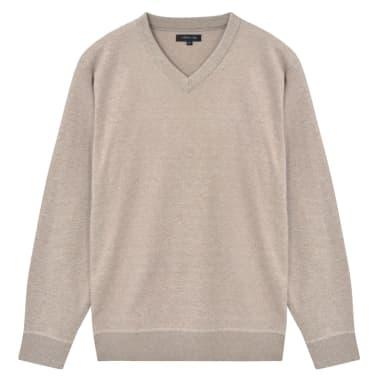 vidaXL Jersey de hombre cuello de pico beige XL[1/4]