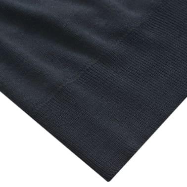 vidaXL Herren Pullover Sweater mit Reißverschluss Marineblau M[3/5]