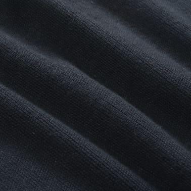 vidaXL Herren Pullover Sweater mit Reißverschluss Marineblau M[4/5]