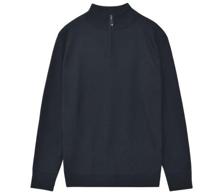 vidaXL Men's Zip Pullover Sweater Navy XL