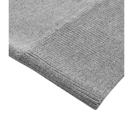 vidaXL Men's Zip Pullover Sweater Grey M[3/5]