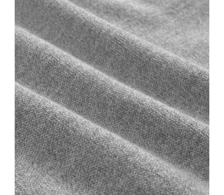 vidaXL Men's Zip Pullover Sweater Grey M[4/5]