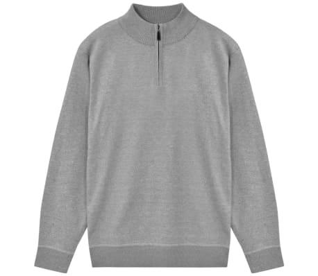 vidaXL Jersey de hombre con cremallera gris XL[1/5]