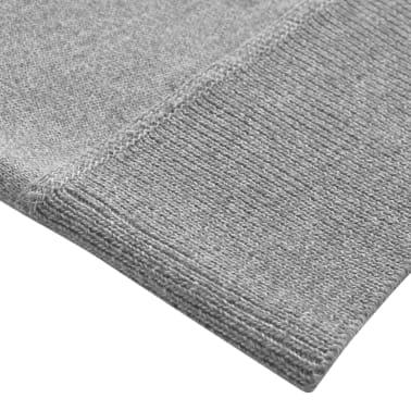 vidaXL Jersey de hombre con cremallera gris XL[3/5]