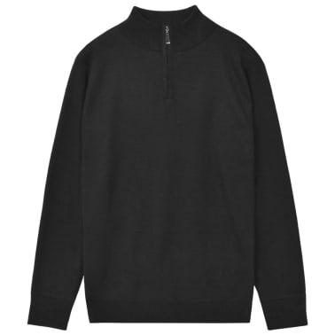 vidaXL Jersey de hombre con cremallera negro XL[1/5]