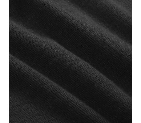 vidaXL Jersey de hombre con cremallera negro XL[4/5]