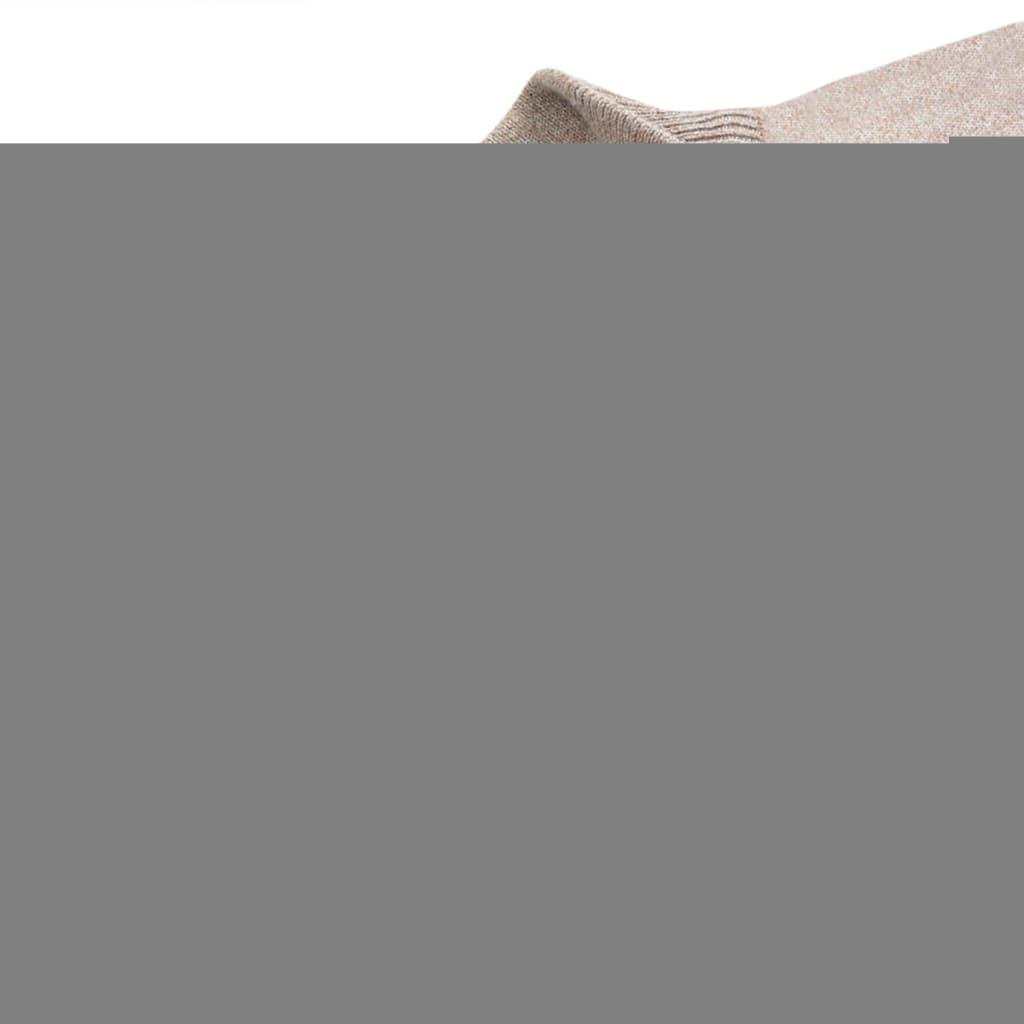 vidaXL Pánský svetr se zipem béžový vel. M