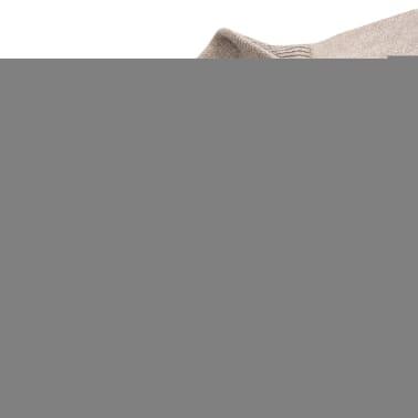 vidaXL Pánský svetr se zipem béžový vel. M[2/5]