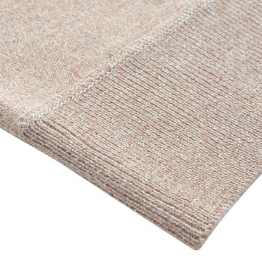 vidaXL Pánský svetr se zipem béžový vel. M[3/5]