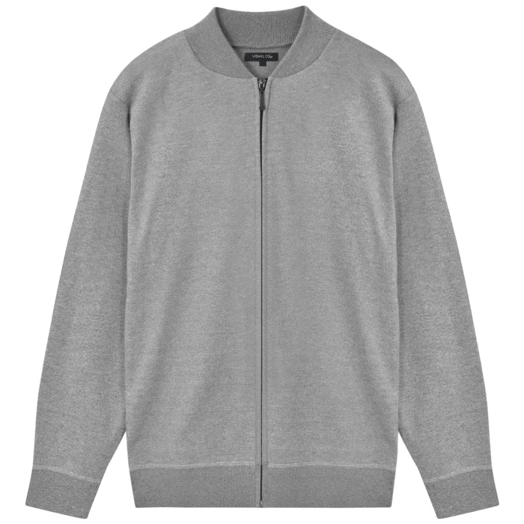 vidaXL Pánský cardigan šedý vel. L